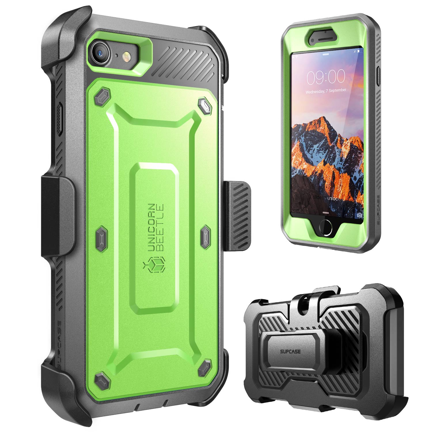 SUPCASE Case for iPhone 7 4.7 inch [UBPro] +Built-in Screen Protector +Clip