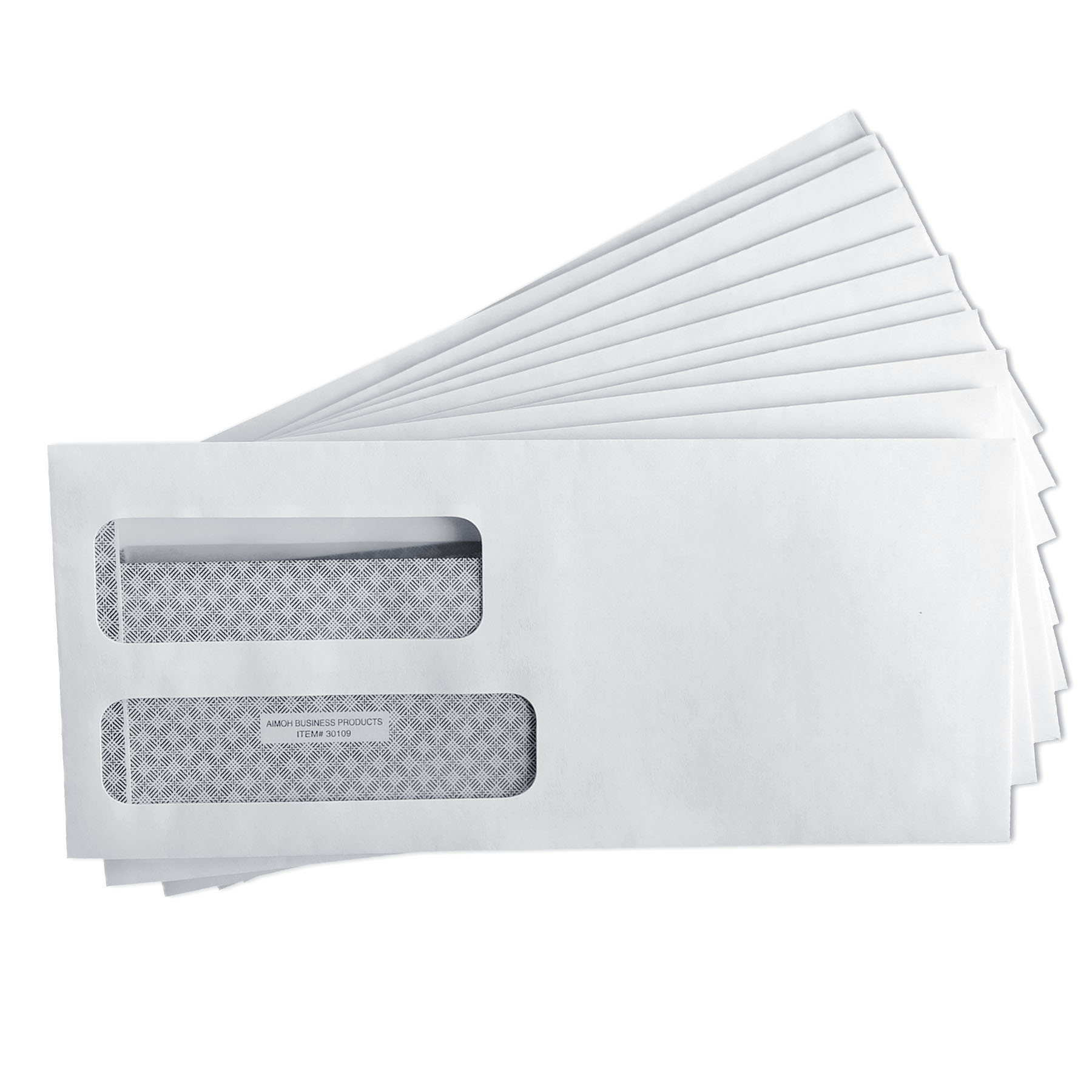 9 flip seal double window security envelopes 500 per for Window envelopes