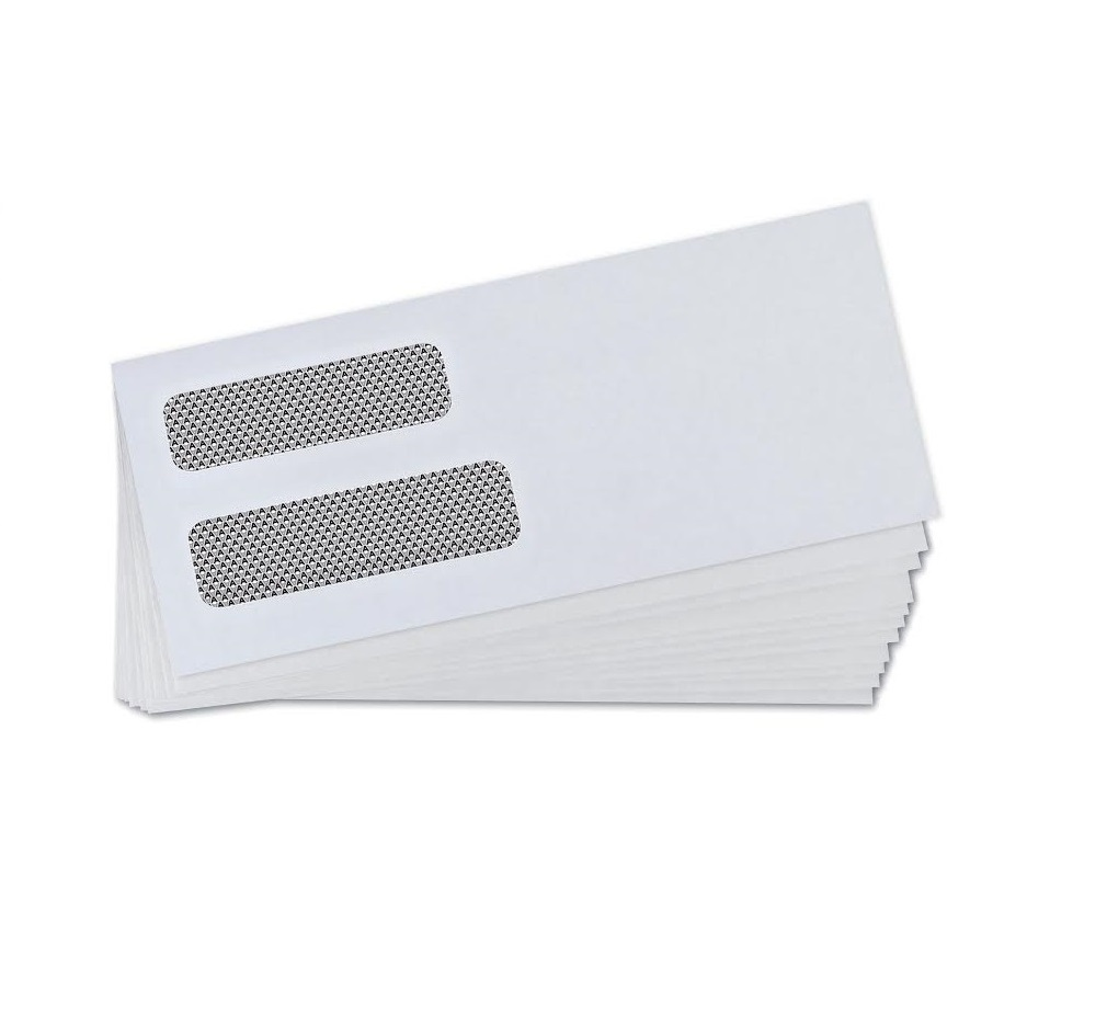 Quickbooks invoice double window envelopes gummed 500 for Double window envelope template