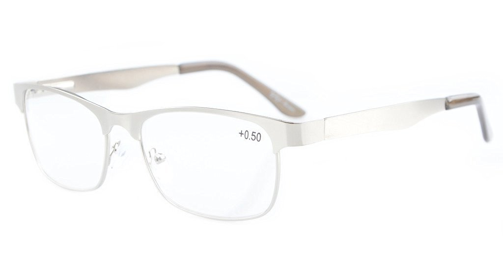 Eyeglass Frame Spring Hinge : Eyekepper Readers Metal Frame Spring Hinge Reading Glasses ...
