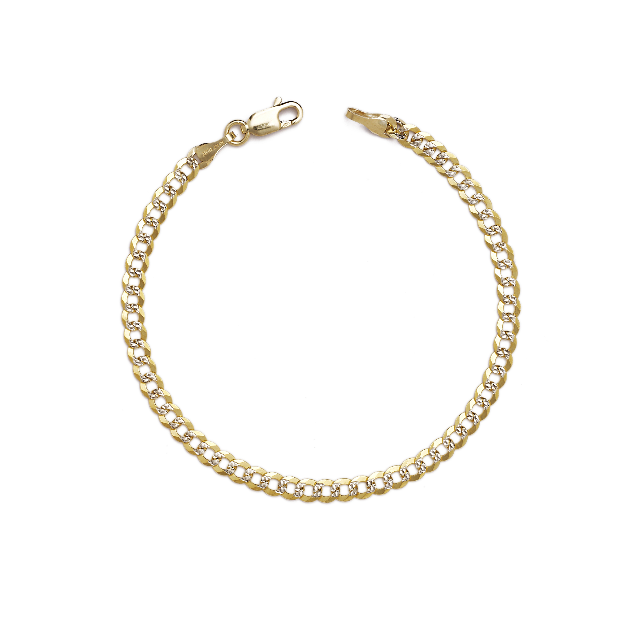 10k Fine Gold Curb Cuban Chain Bracelet And Anklet 0 16