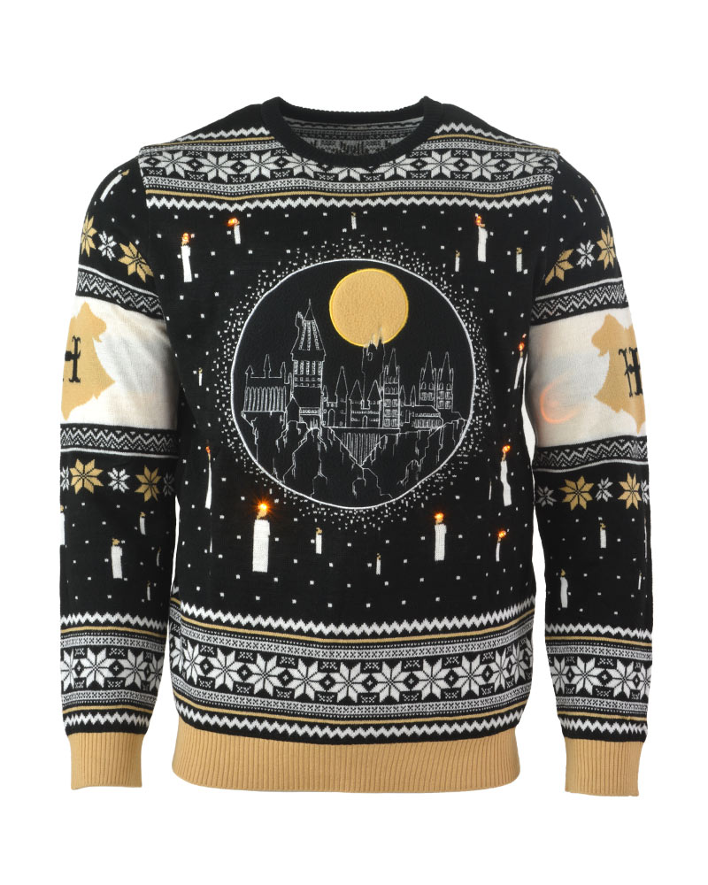 Harry Potter Hogwarts Castle LED Christmas Jumper//un brutto Maglione