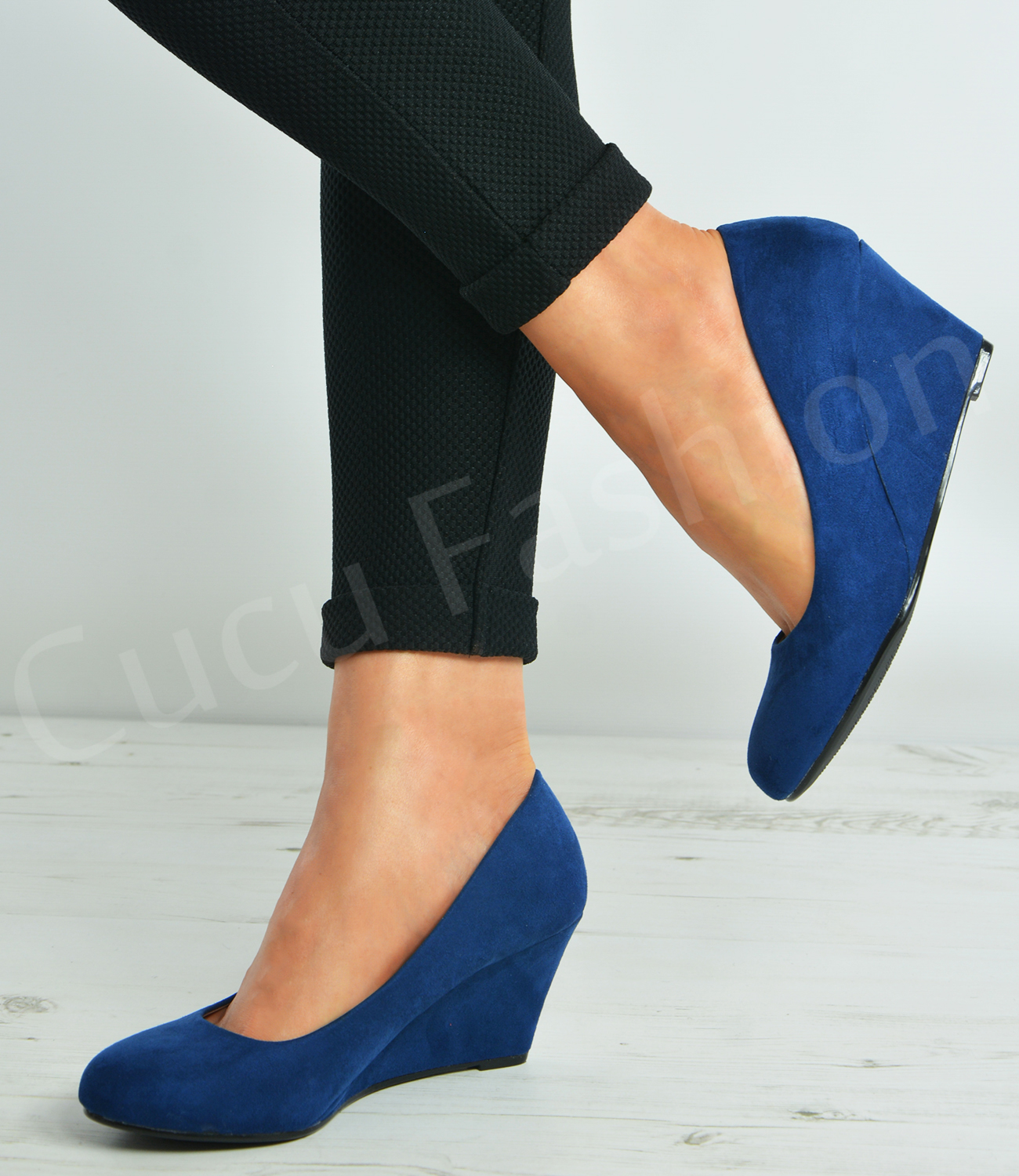 New-Womens-Ladies-Slip-On-Court-Pumps-Wedges-High-Heels-Party-Shoes-Size-Uk-3-8