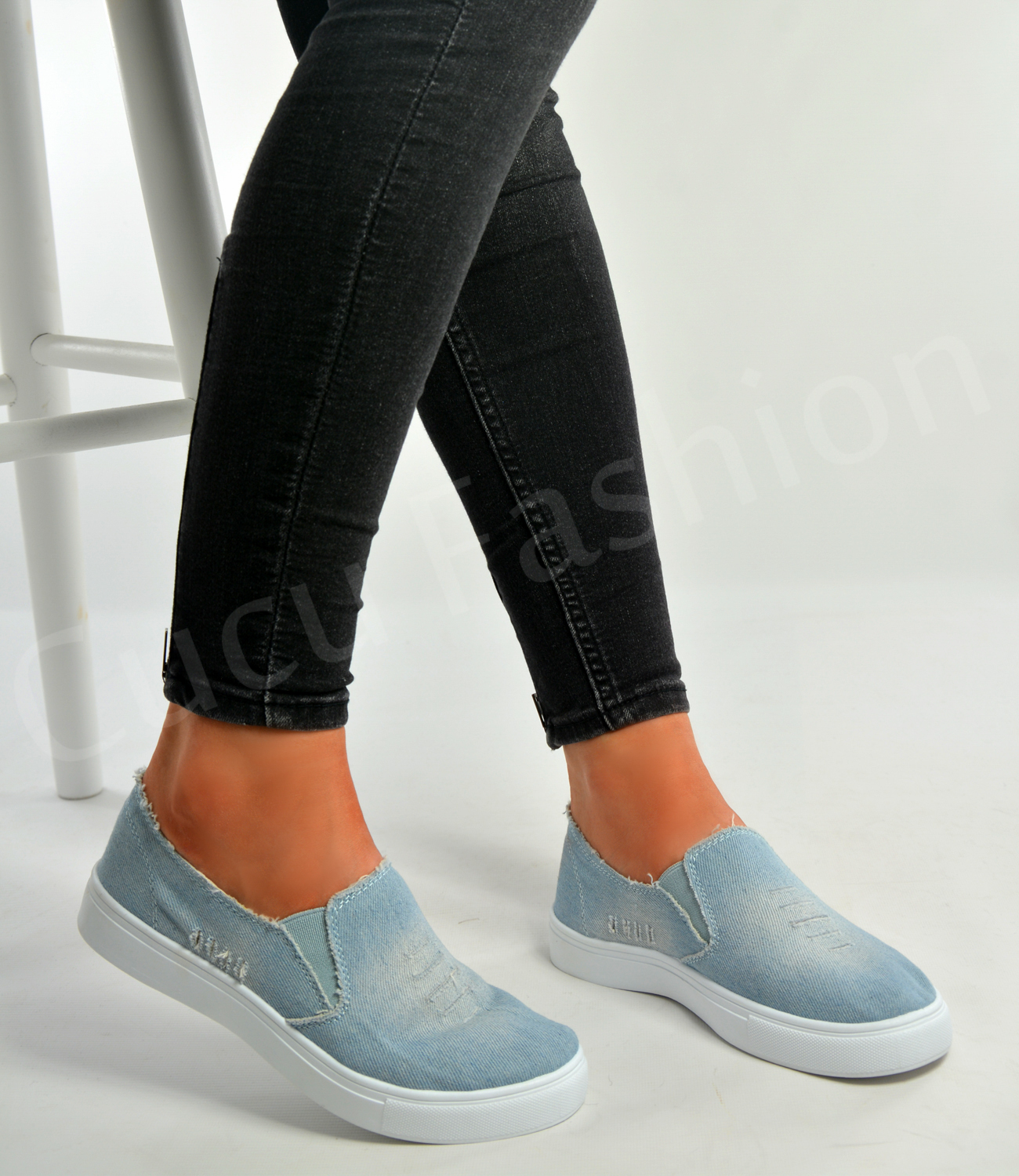 Womens Casual Canvas Slip On Shoes