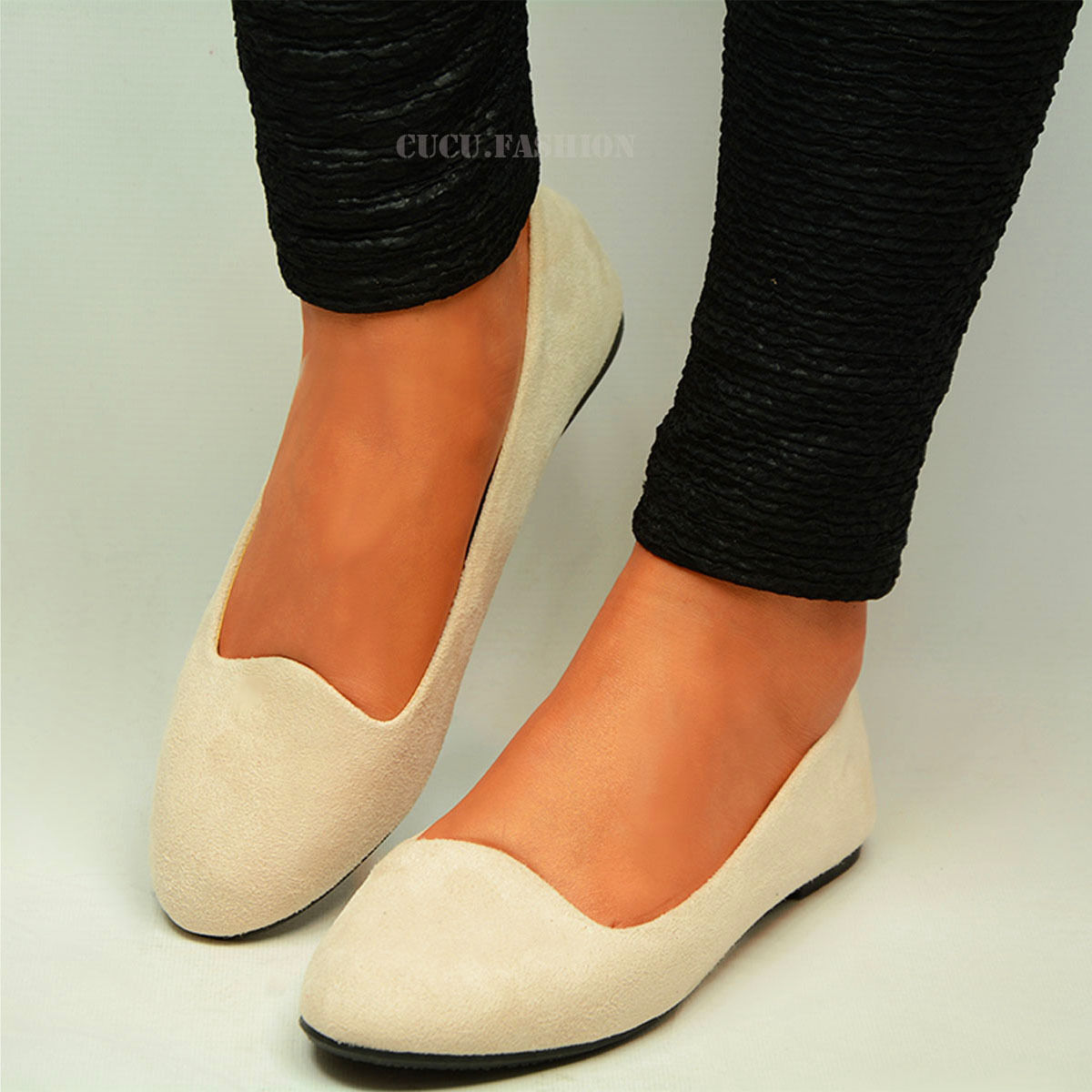 Womens-Ballerina-Ballet-Dolly-Pumps-Ladies-Flat-Black-Loafers-Shoes-Size-New-Uk thumbnail 11