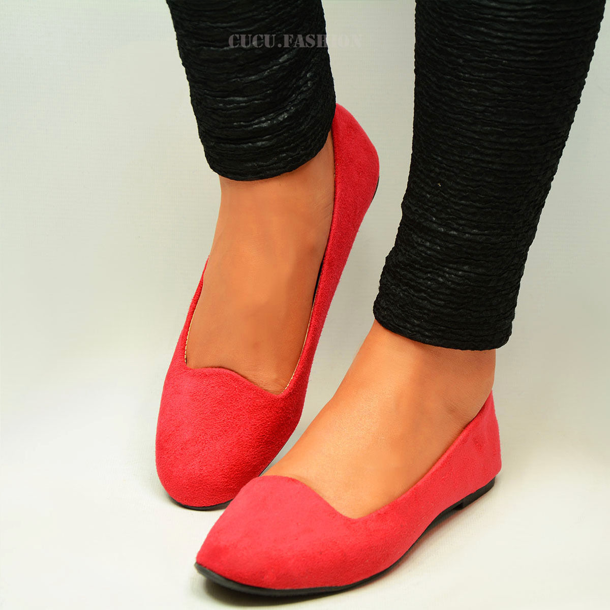 Womens-Ballerina-Ballet-Dolly-Pumps-Ladies-Flat-Black-Loafers-Shoes-Size-New-Uk thumbnail 10