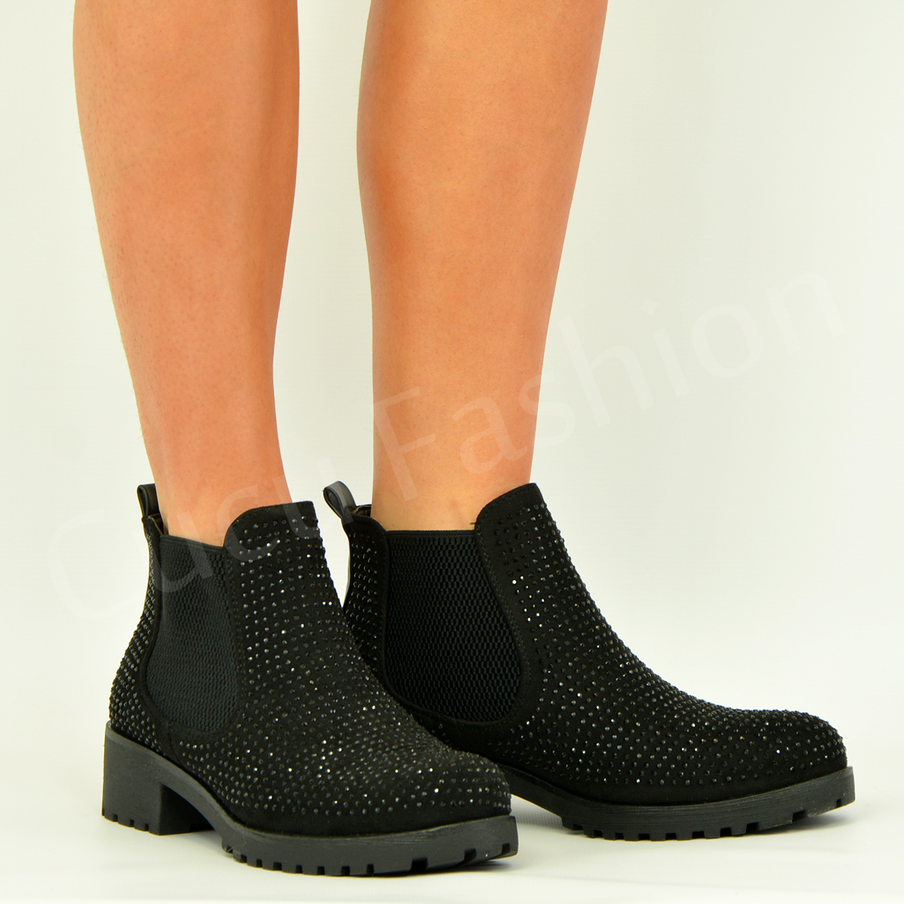 new womens ankle boots studed booties chunky heel