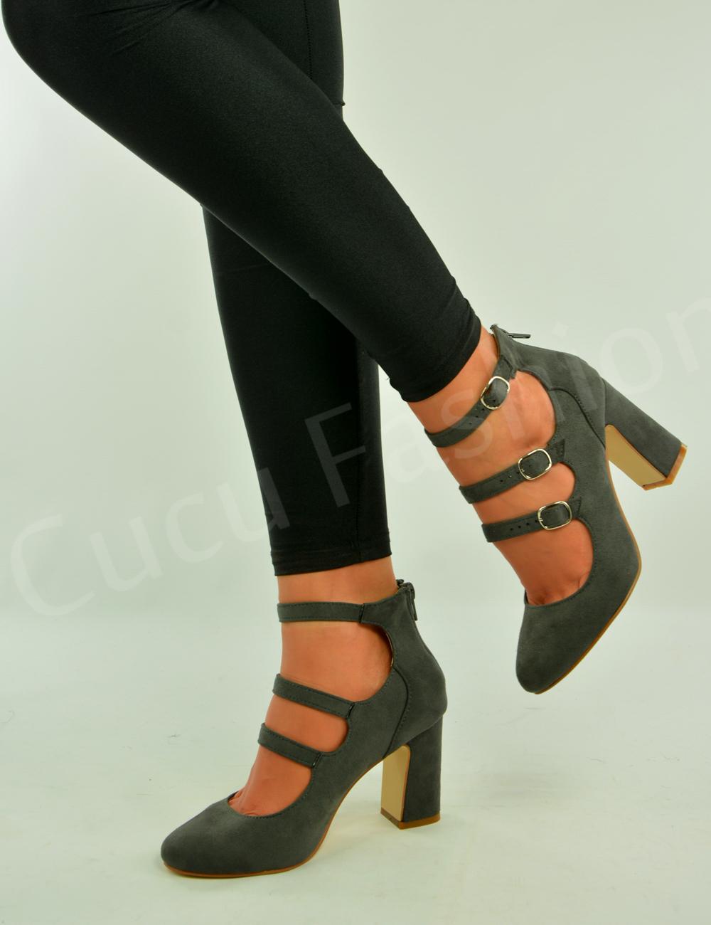 Block Heels Closed Toe Shoes
