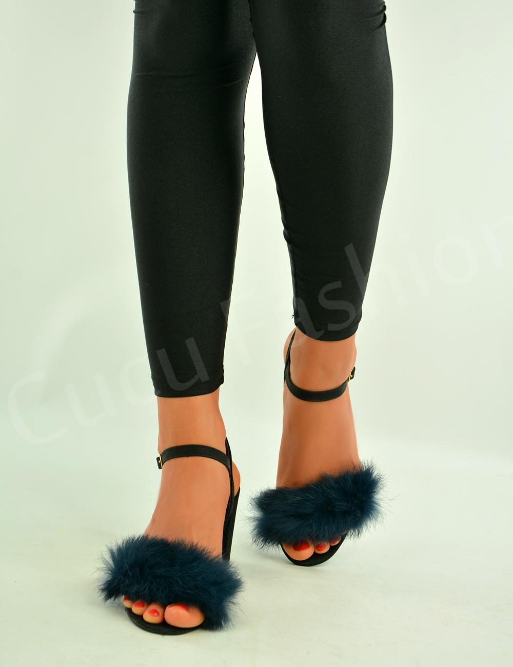 Womens sandals mid heel - New Womens Ladies Block Mid Heel Sandals Ankle