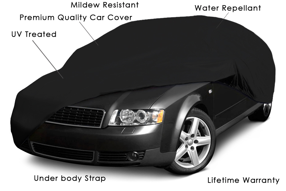 waterproof full black car cover outdoor indoor sun dust scratch rain proof ebay. Black Bedroom Furniture Sets. Home Design Ideas
