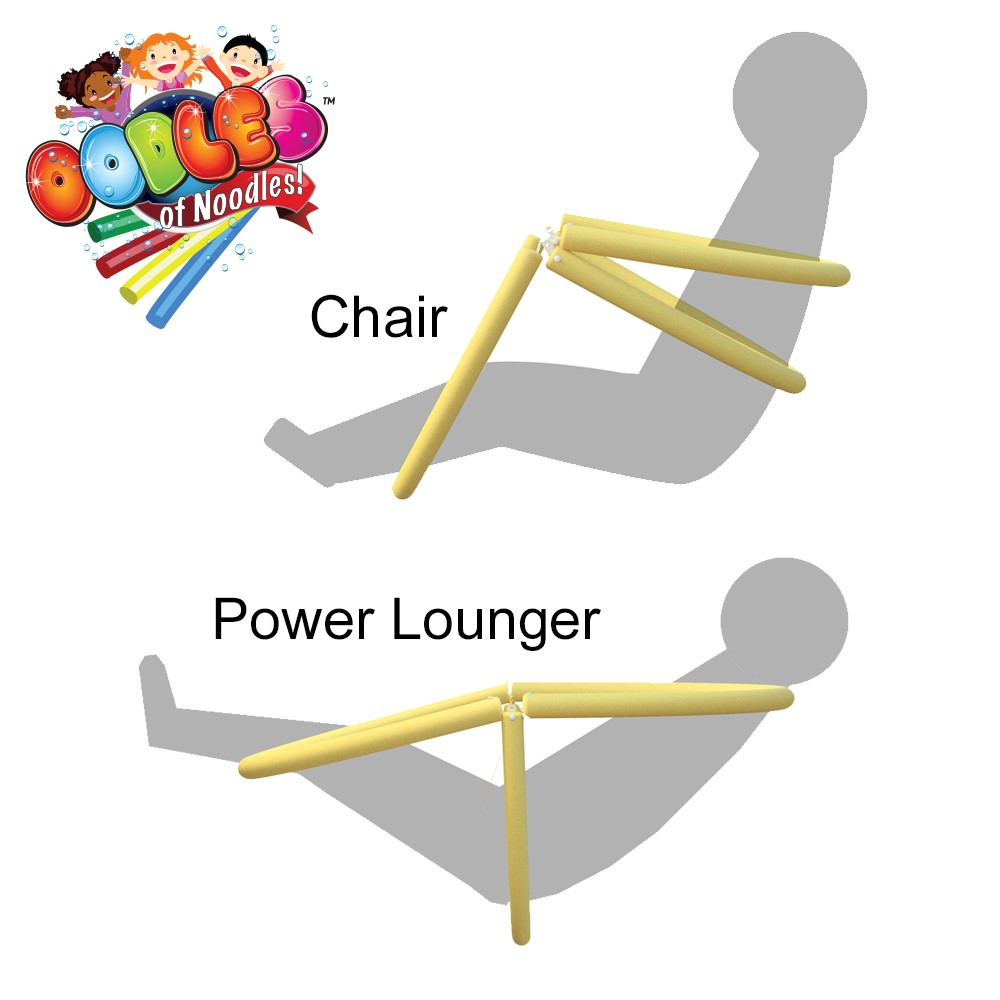 Power lounger floating pool noodle water chair comfortable and relaxing ebay for Swimming pool noodle fun chair