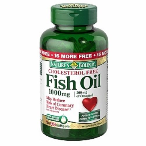Nature 39 s bounty fish oil 1000 mg rapid release liquid for Is fish oil good for cholesterol
