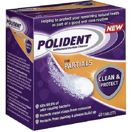 how to use polident denture cleanser tablets