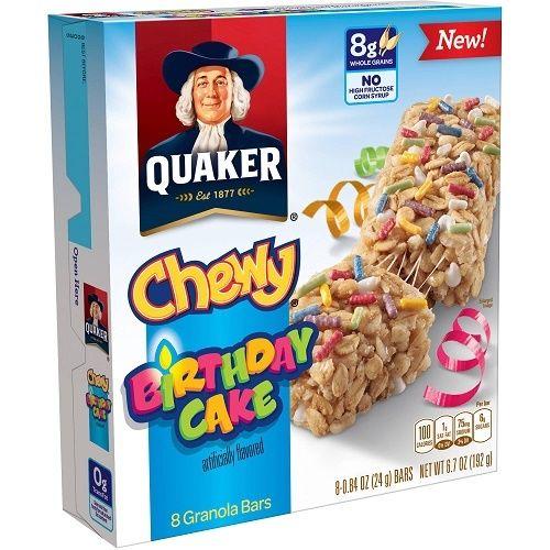 Quaker Chewy Birthday Cake Granola Bars Quaker Chewy Granola Bars Barcode