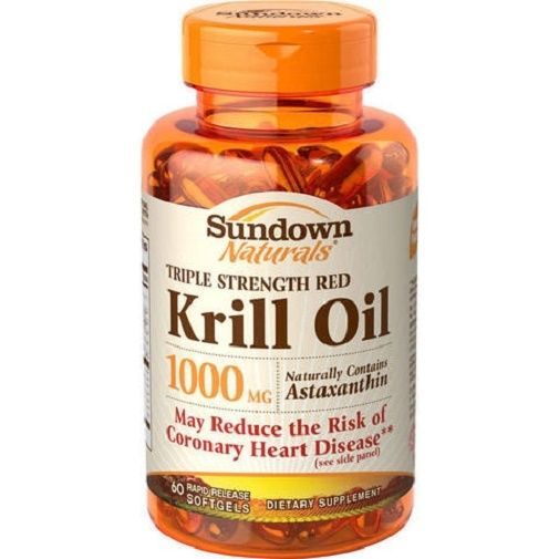 Sundown naturals krill oil red triple strength 1000 mg for Viva naturals triple strength omega 3 fish oil