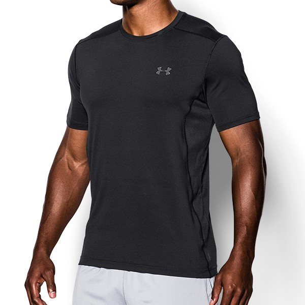 Under armour training mens heatgear fitted raid t shirt ebay for Under armour fitted t shirt