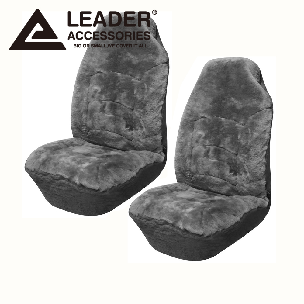 Seat Cover Universal 2Pc Front Australian Sheepskin Interior Fit Most Cars