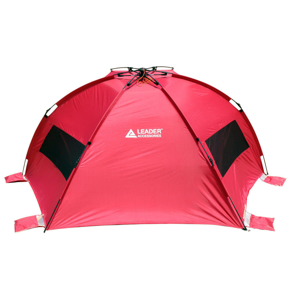 Pop Up Cabana : Leader accessories easyup beach tent quick cabana pop up