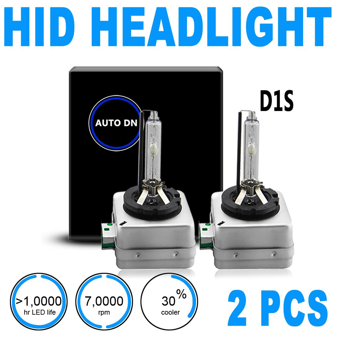 2x hid xenon headlight light bulbs high beam low beam. Black Bedroom Furniture Sets. Home Design Ideas