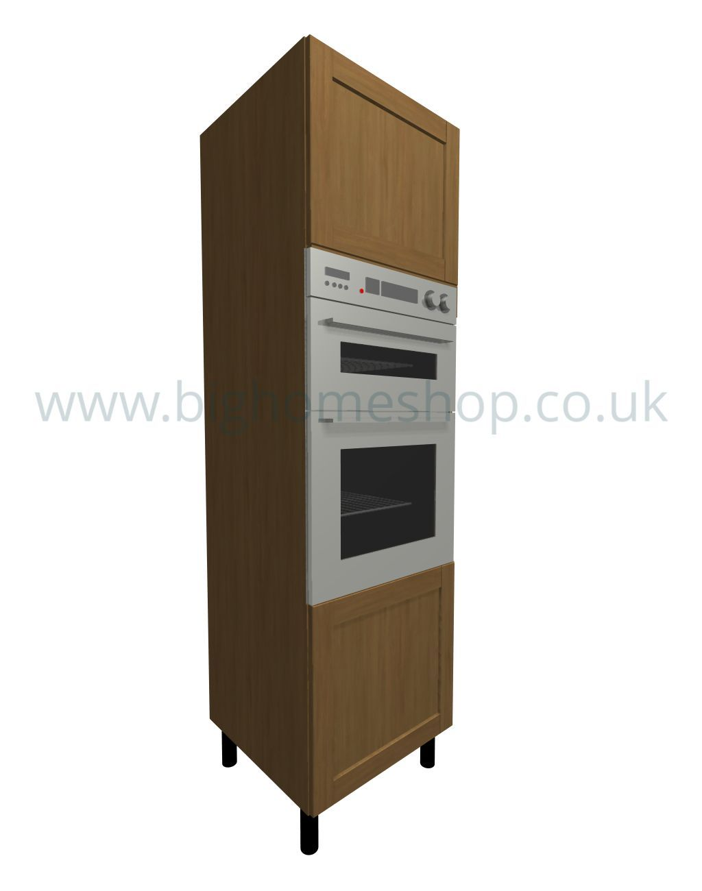 Fitted kitchen unit housing and larder units with oak for Fitted kitchen dresser unit