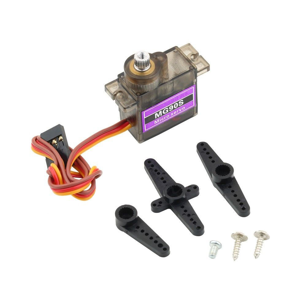 4 Pcs Mg90s High Torque Metal Gear Rc Servo Motor Robot