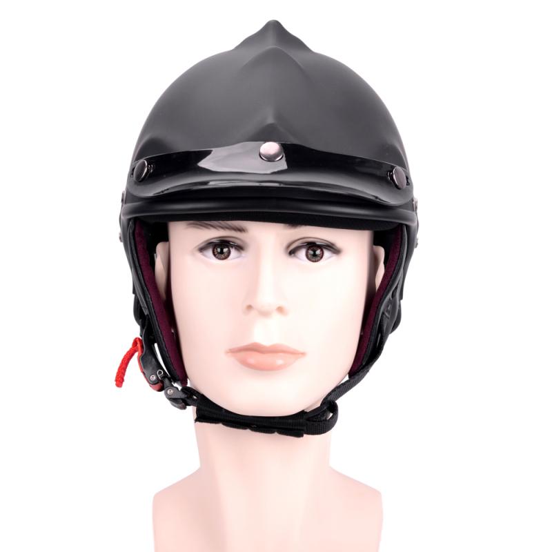 Black Skull Motorcycle Helmet Dual Use Half Face Capacetes ...