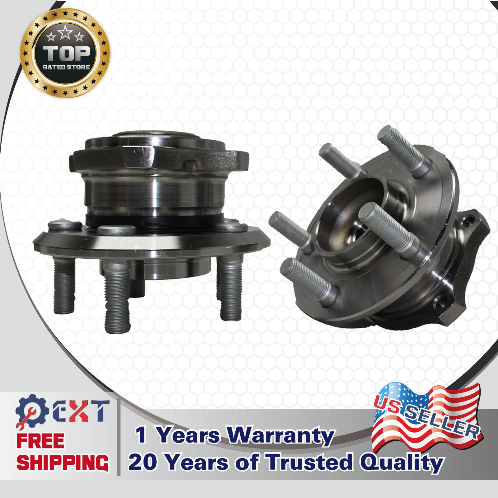 Pair New Rear Wheel Hub Bearing Assembly For 2008 DODGE