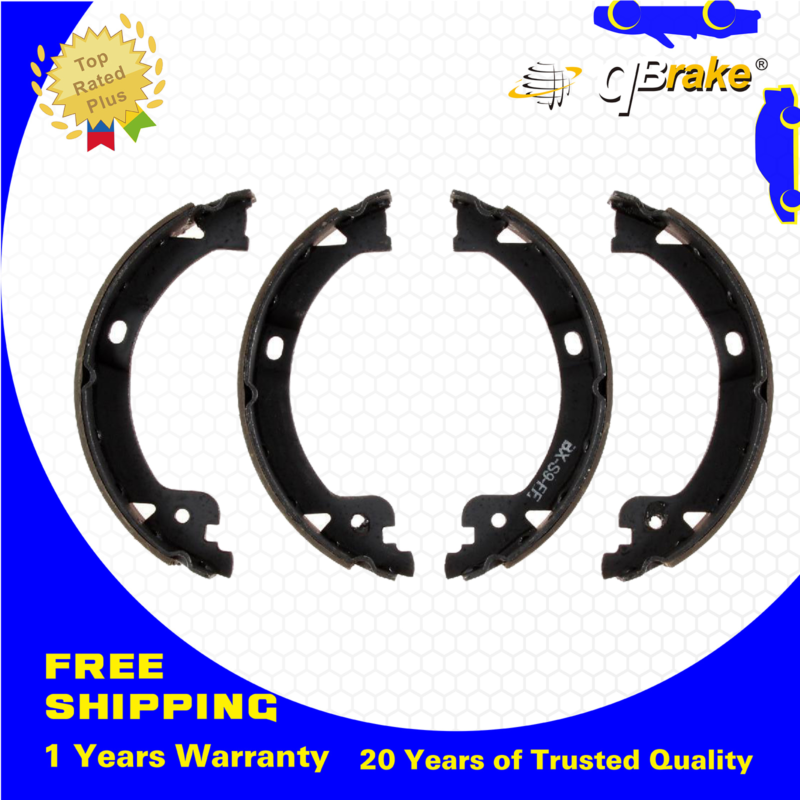 QBrake Rear Parking Brake Shoes S812 Fit 01-07 Chrysler