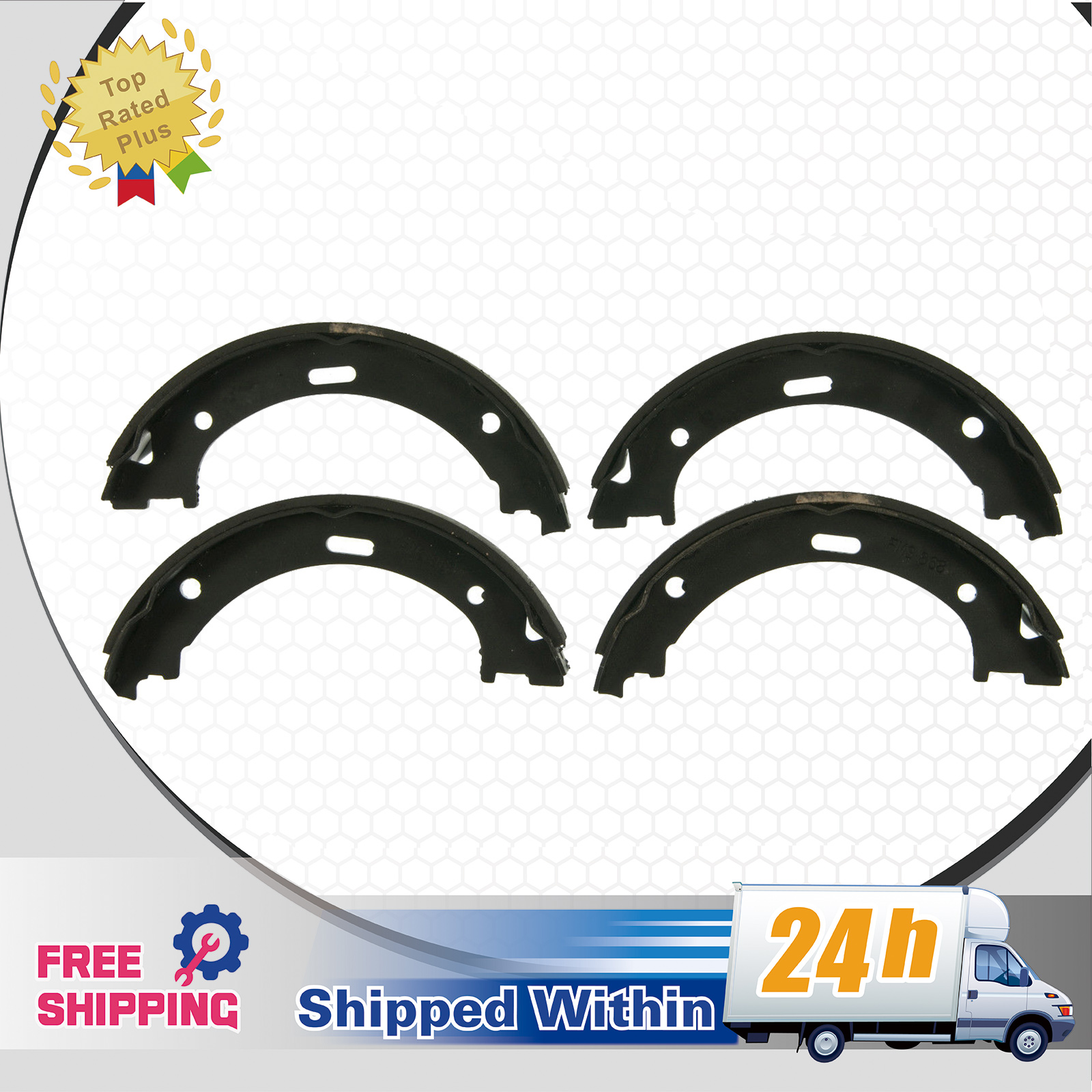 Up 4 rear park brake shoes s868 fit 05 15 nissan armada 2004 image is loading up 4 rear park brake shoes s868 fit vanachro Images