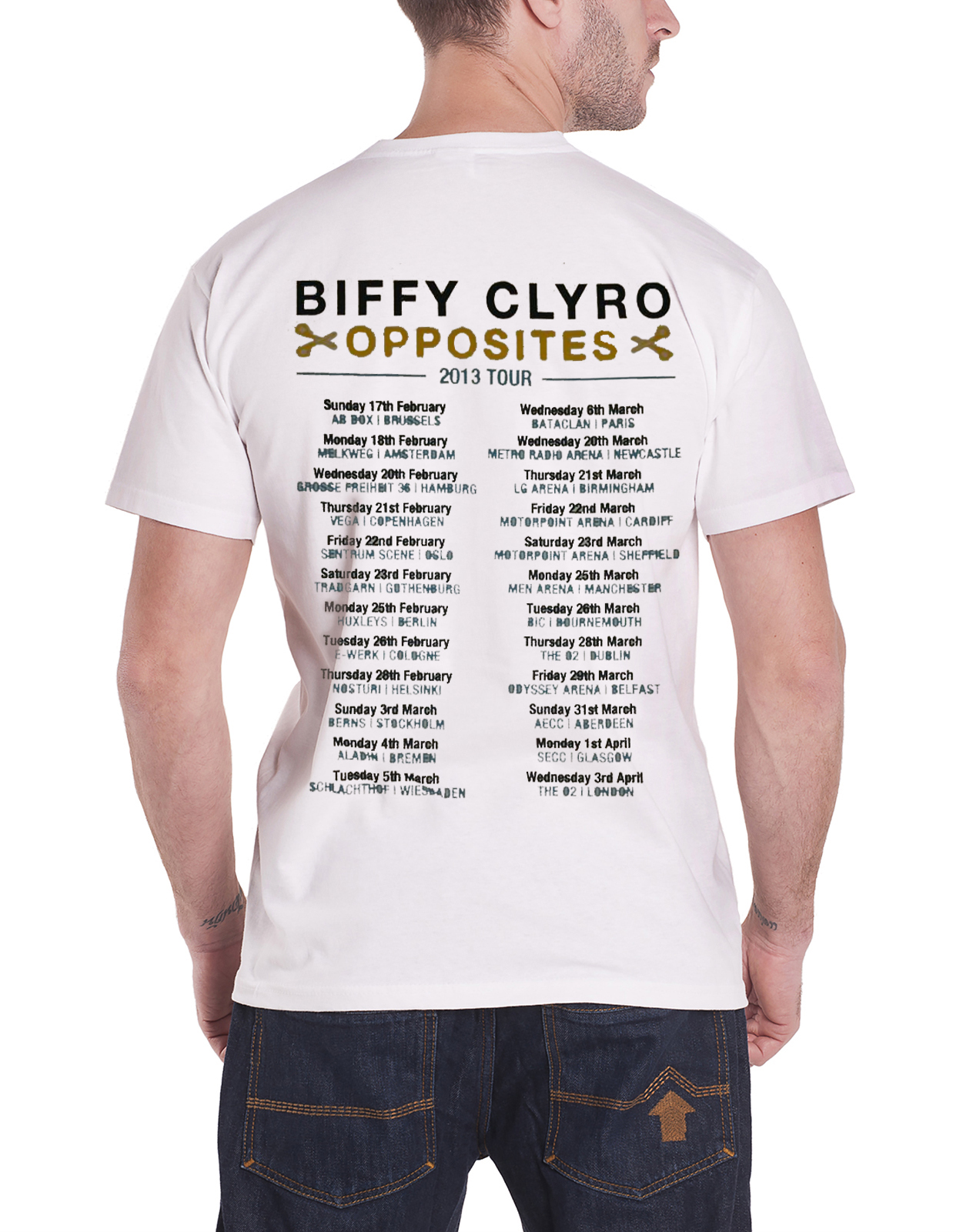 Biffy Clyro T Shirt Ellipsis Band Logo Tour Opposites