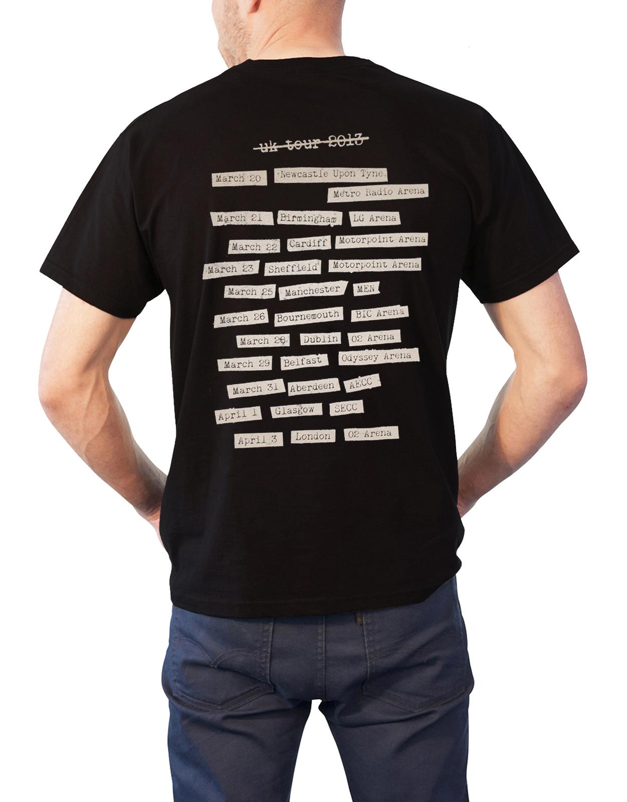 Biffy clyro t shirt ellipsis band logo tour opposites for Band t shirts for men