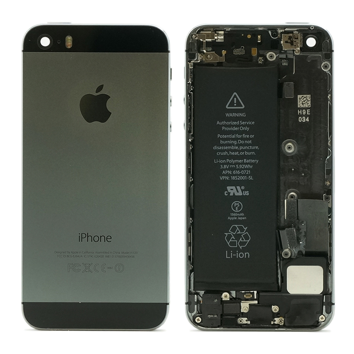refurbished original apple iphone 5s housing assembly battery mid frame ebay. Black Bedroom Furniture Sets. Home Design Ideas