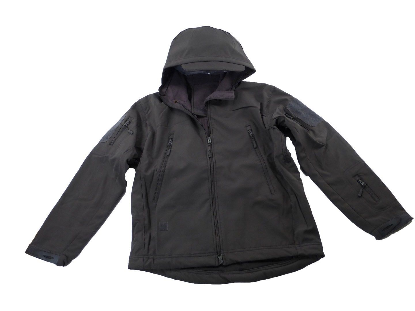 Tactical Scorpion Soft Shell Mens Military Waterproof Hooded Grey ...