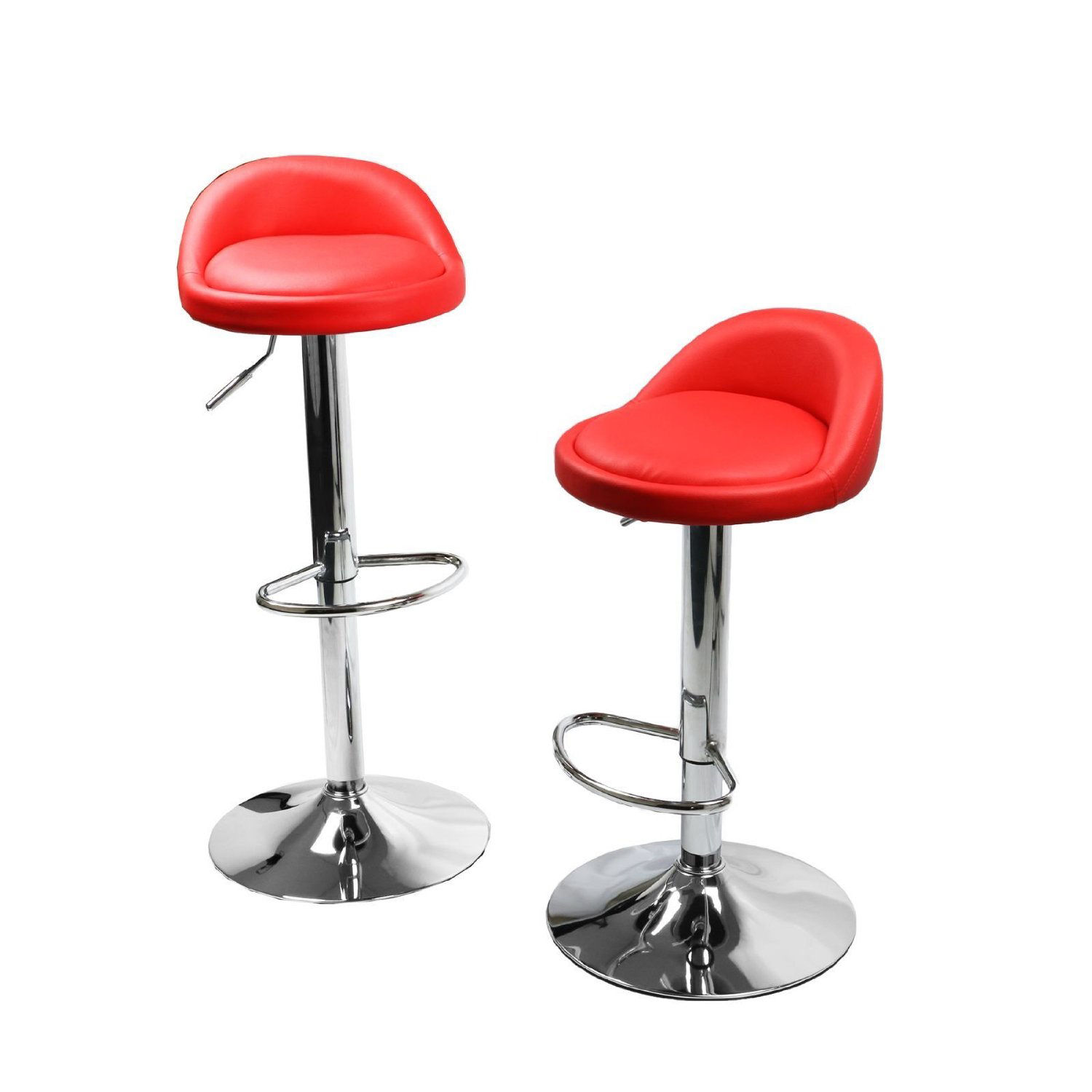 Set Of 2 Red Leather Bar Stools Swivel Dinning Counter  : 3hbar318nr4010491 from www.ebay.com size 1500 x 1500 jpeg 100kB