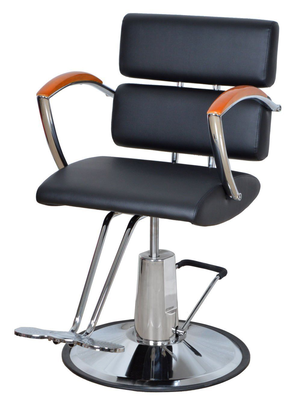 Beauty salon spa hydraulic barber chair black steel for Hydraulic chairs beauty salon