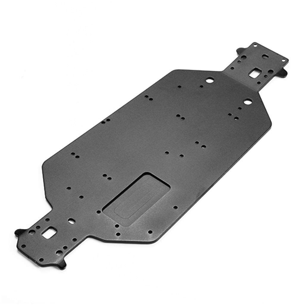 Upgrade parts aluminum alloy chassis for hsp rc 1 10 truck for Chassis aluminium
