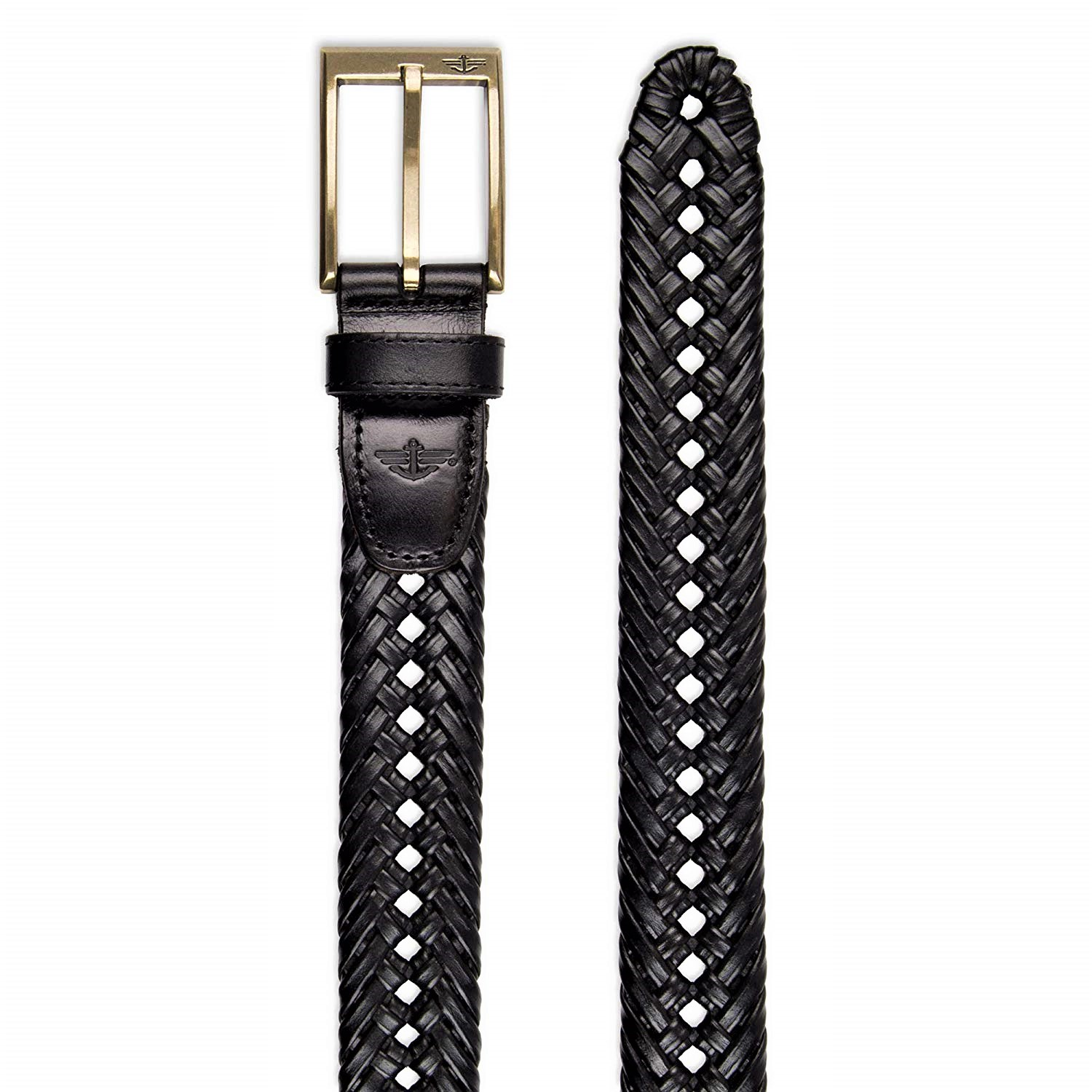 Dockers Mens 1 3//16 Inches Faux Leather Braided Belt