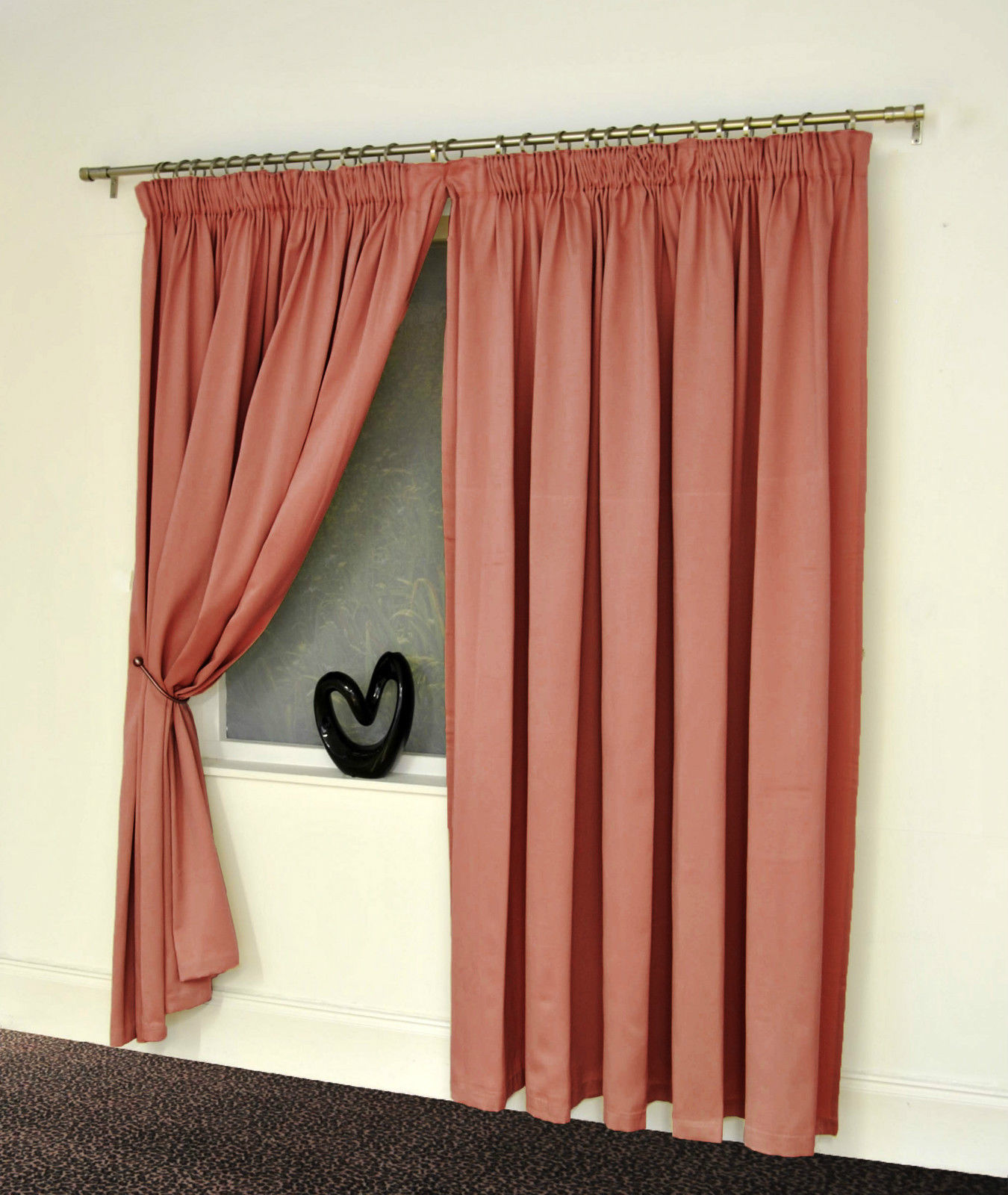 satin luxury pencil pleat lined curtains reduced to clear last few : cream plain net curtains