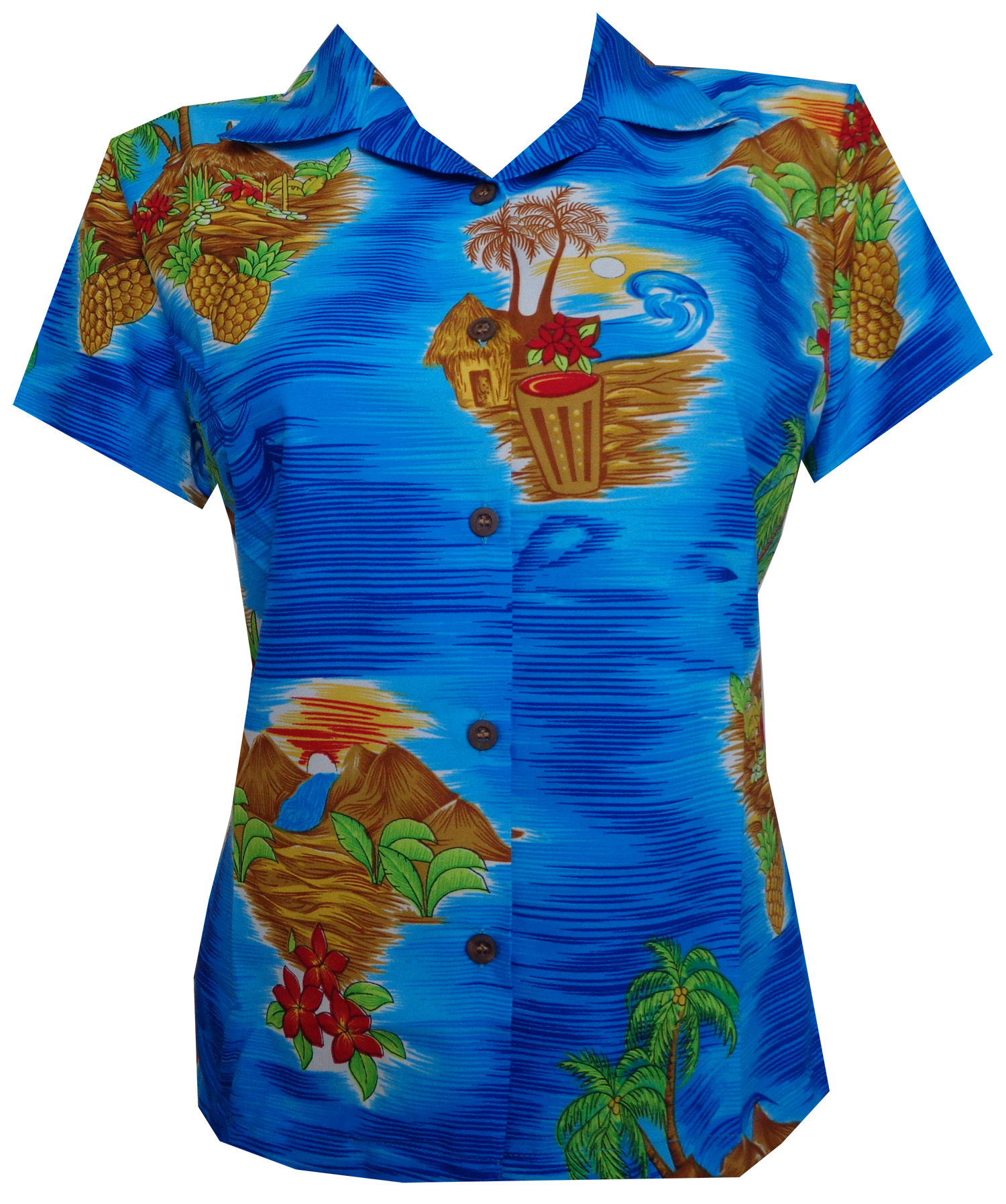 Women'S Blouses Hawaiian 39
