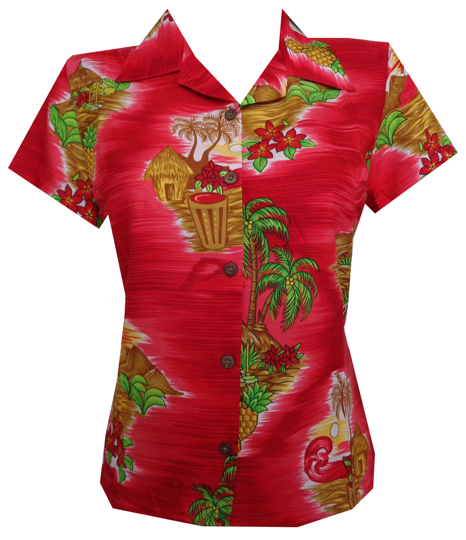 Women'S Blouses Hawaiian 69