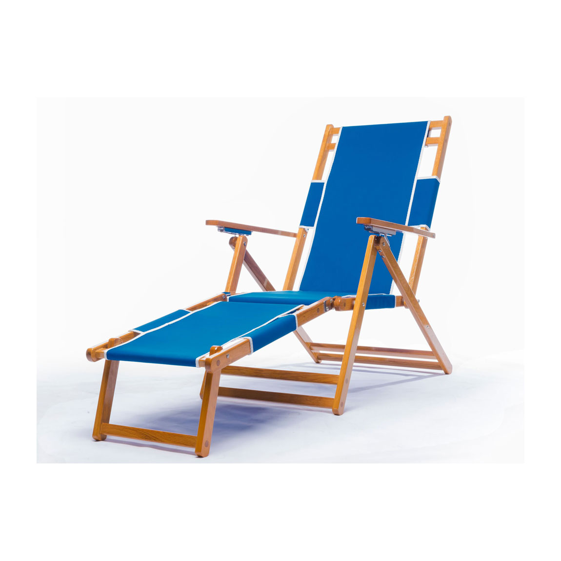Heavy Duty mercial Grade Oak Wood Beach Chair Chaise Lounger