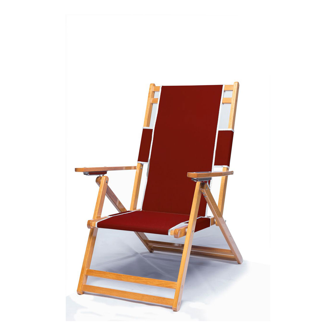 Heavy duty commercial grade oak wood beach chair chaise for Chaise furniture commercial