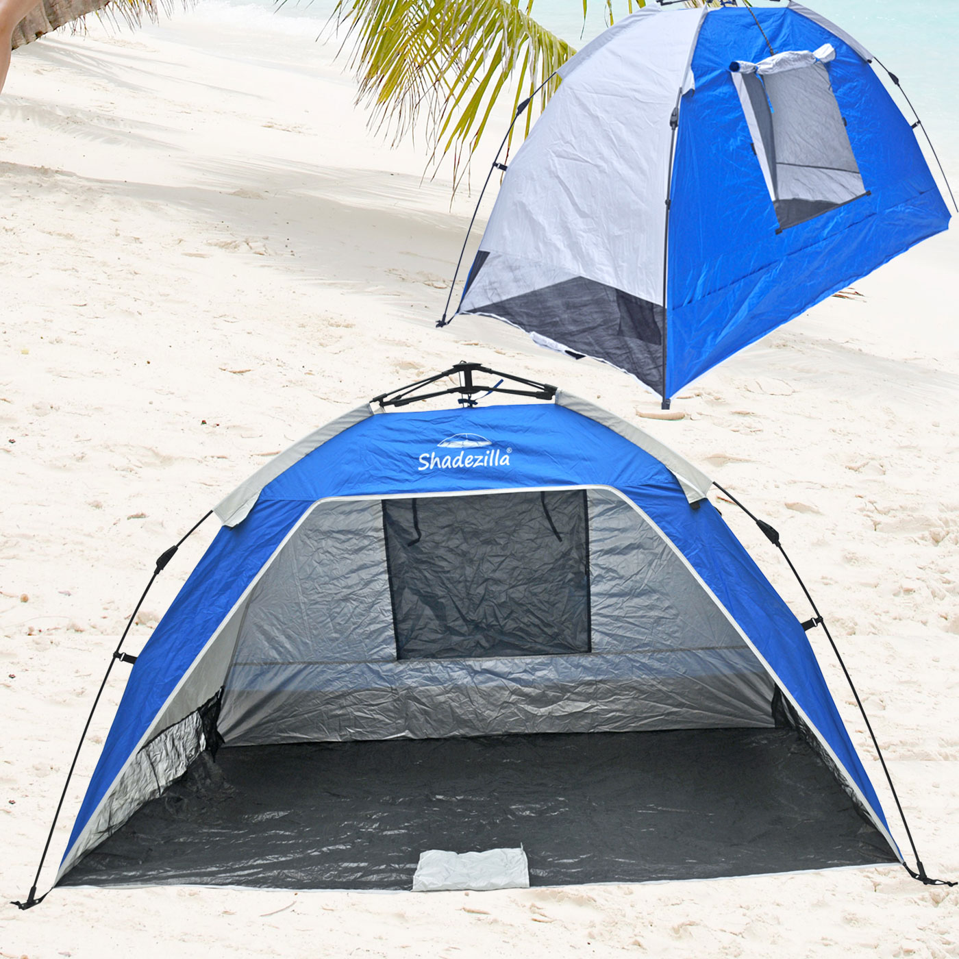 Cabana Portable Shelter : Deluxe instant popup beach tent shelter cabana upf