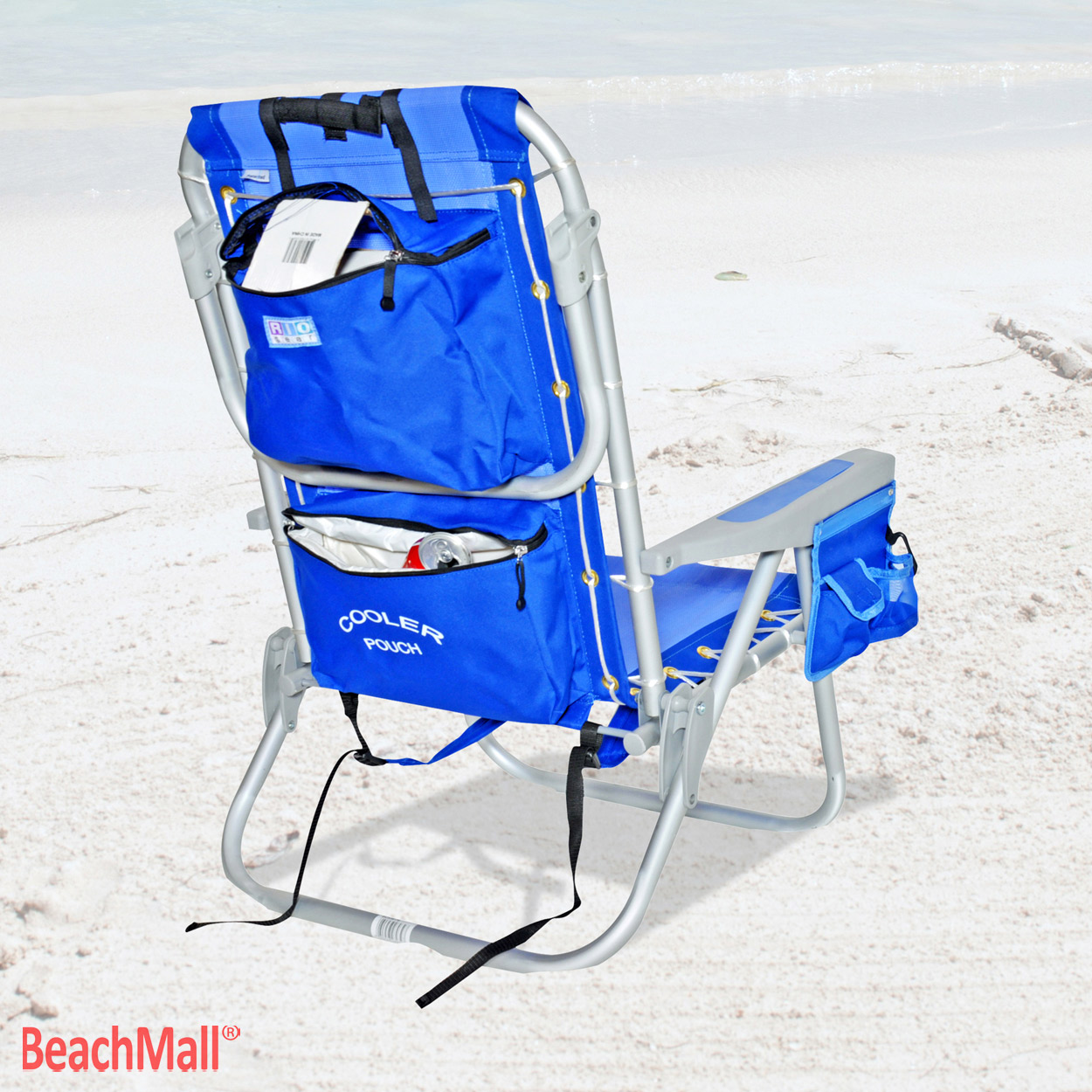 Rio 5 pos LayFlat Ultimate Backpack Beach Chair w cooler