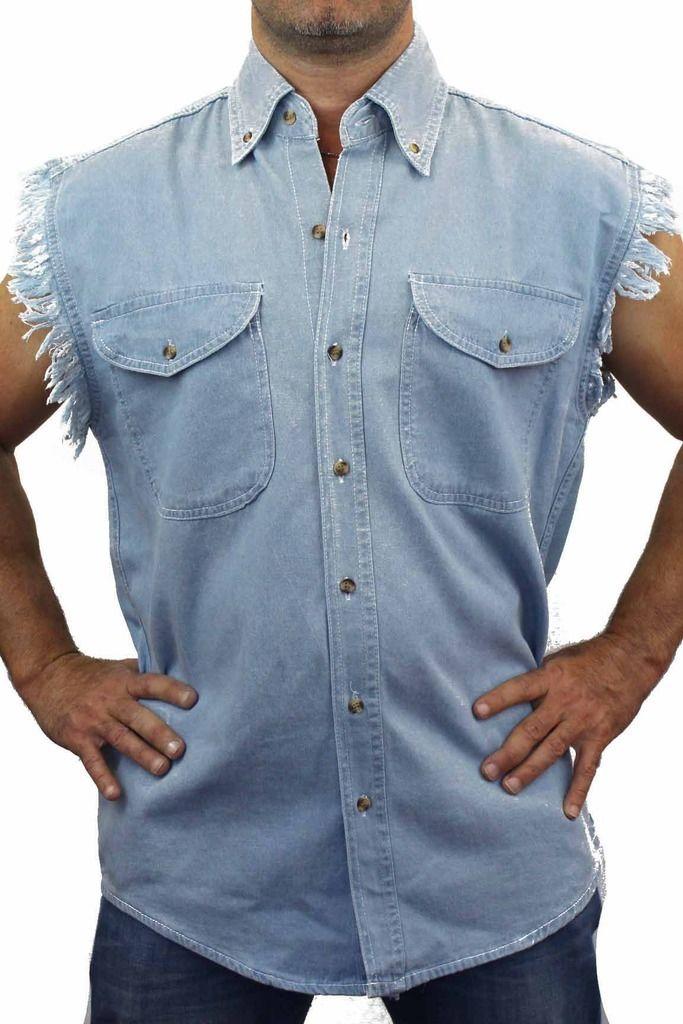 Mens Sleeveless Denim Shirts