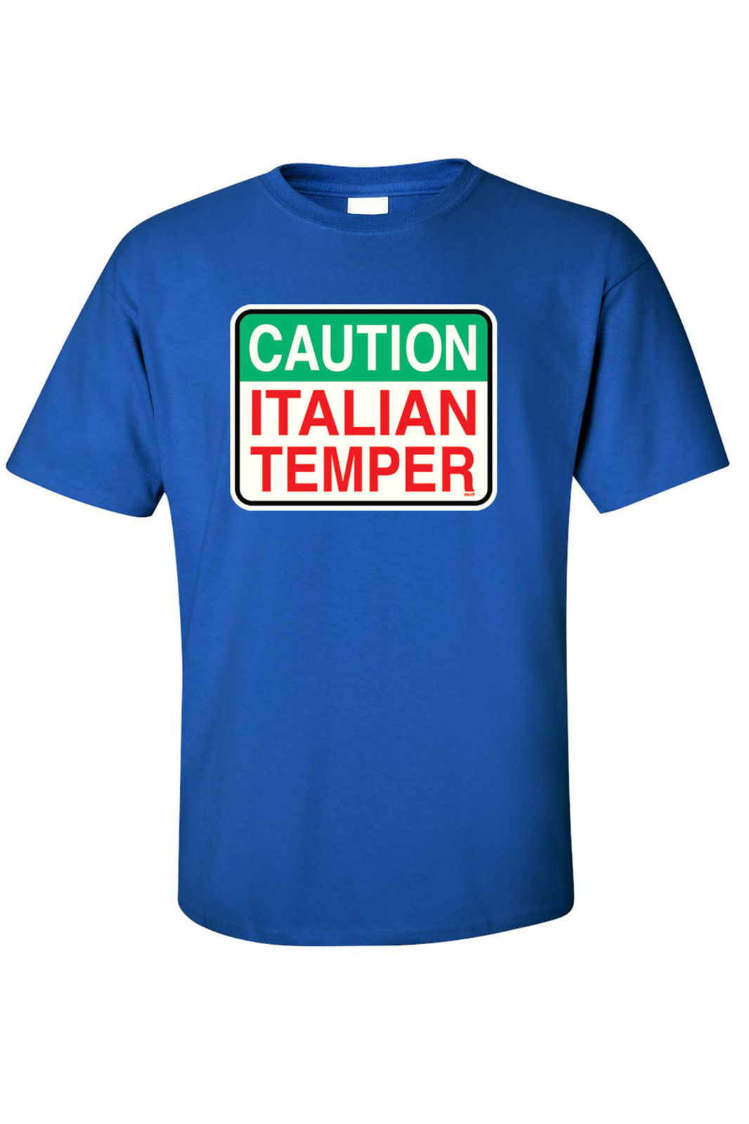 Men 39 s funny t shirt caution italian temper humor italy for Shirts made in italy