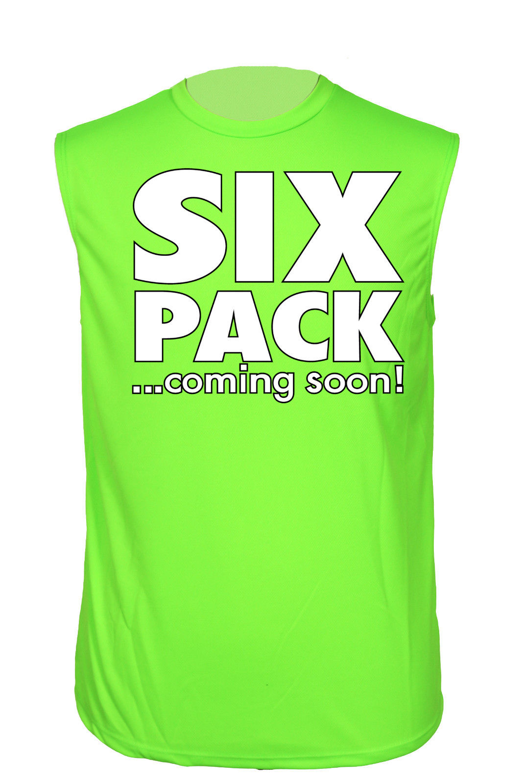 Men 39 s athletic sleevless shirt six pack coming soon dri for Best athletic dress shirts