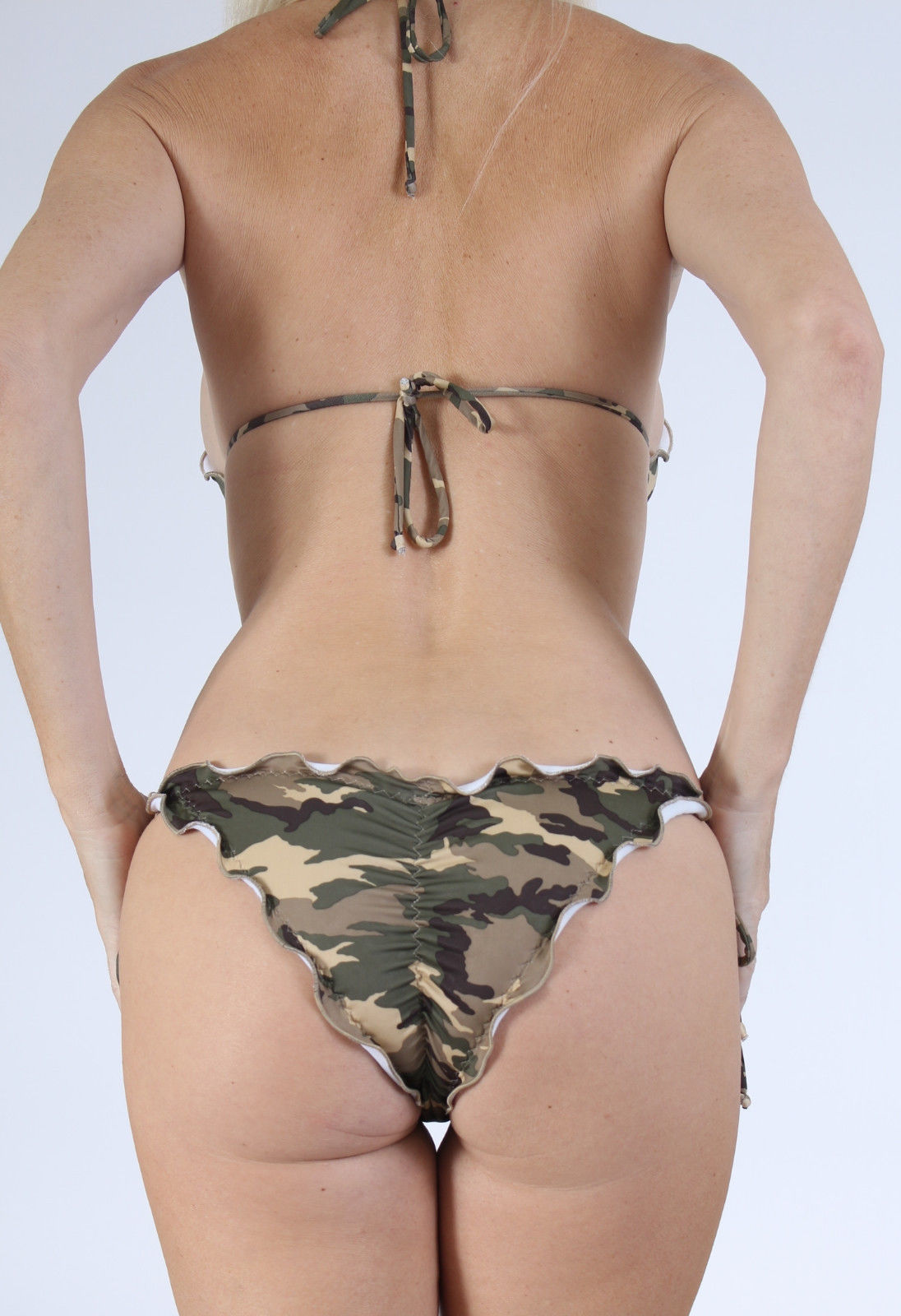 Women's Camo Swimsuits. invalid category id. Women's Camo Swimsuits. Showing 40 of 46 results that match your query. Search Product Result. Op - Juniors String Bikini Top. Product - Head Liquid Last Camo UV Ray Protection Fashionable Swimsuit, Women's. Product Image. Price $
