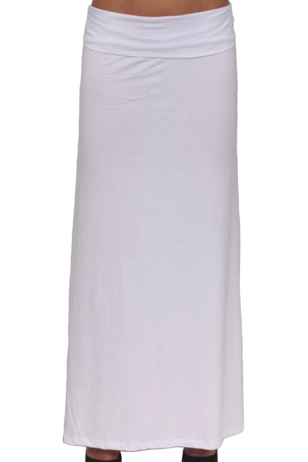 s white plus size length folding waist rayon