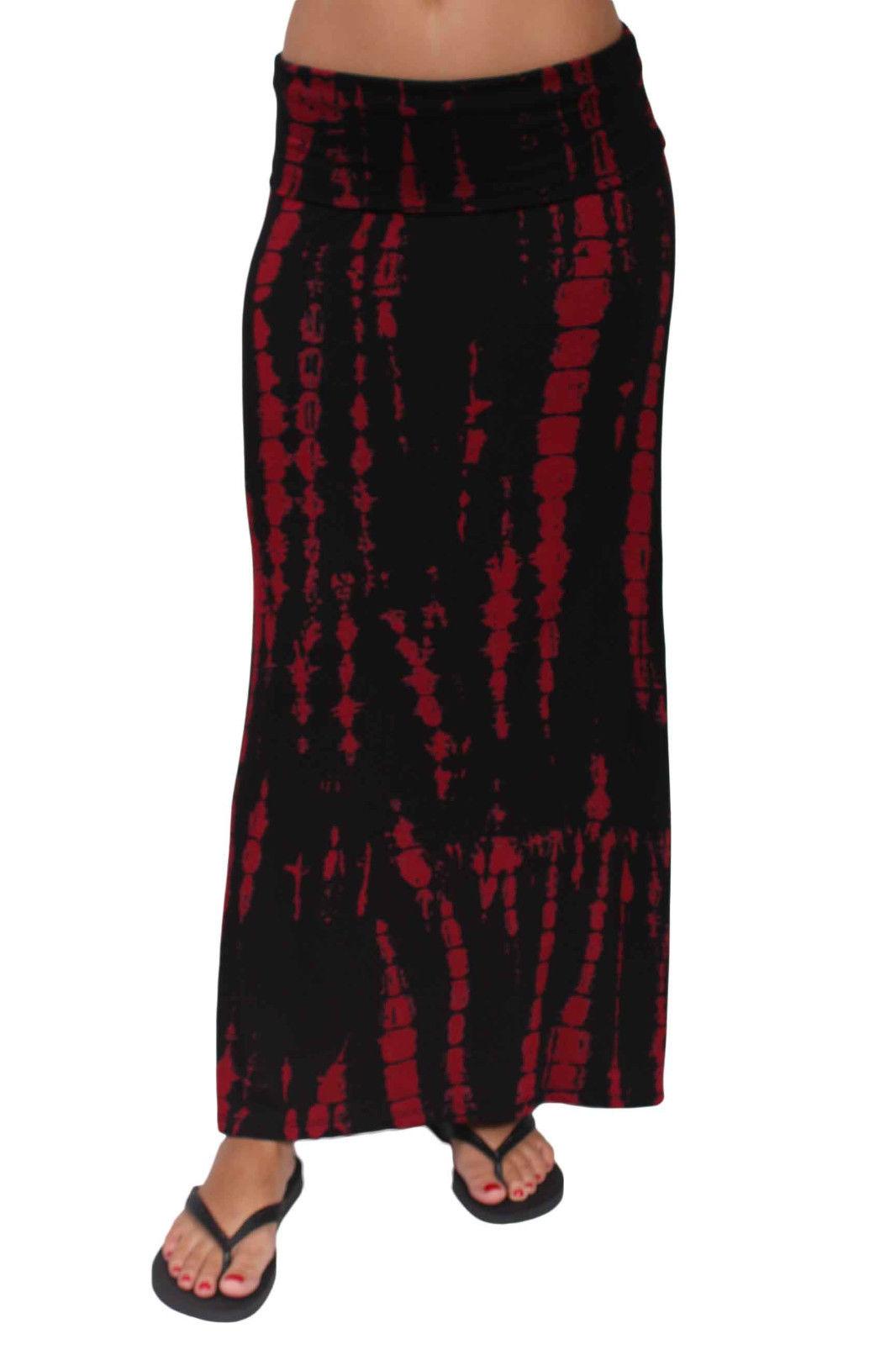 Women's Maxi Skirt Juniors Printed Full Length Black White ...